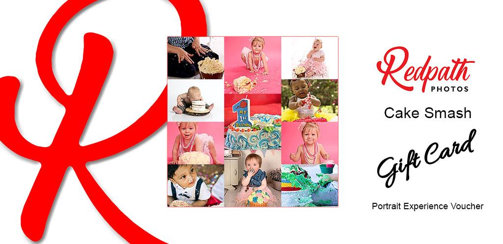 Cake Smash Portrait Gift Card Portrait Experince Voucher Redpath Photos