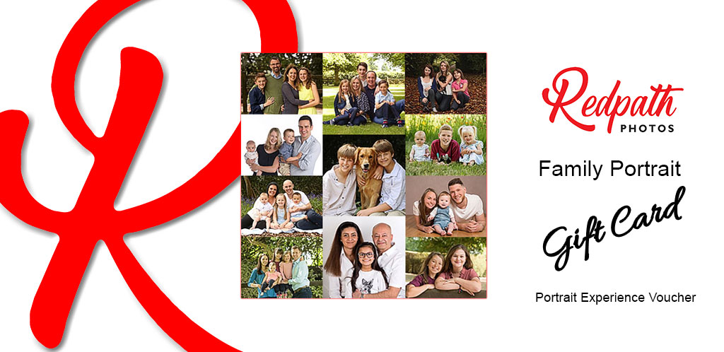 Family Portrait Gift Card a Portrait Experince Voucher from Redpath Photos