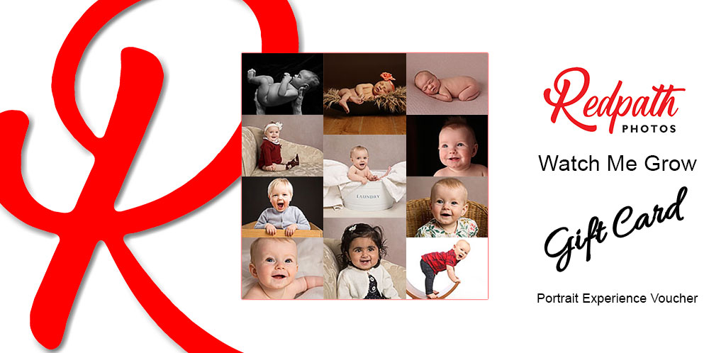Watch Me grow Portrait Gift Card Portrait Experince Portrait Voucher Redpath Photos